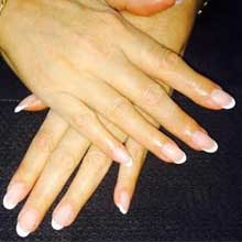 Gel axxium french manucure