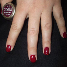 Gel Axxium OPI bordeaux strass